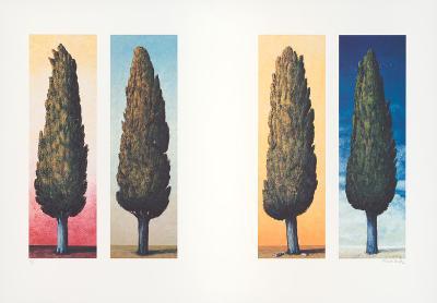 4 Zypressen, c.1999-Folkert Rasch-Limited Edition