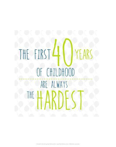 40 Years of Childhood - Wink Designs Contemporary Print-Michelle Lancaster-Art Print