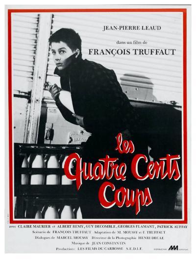 400 Blows, French Movie Poster, 1959--Art Print