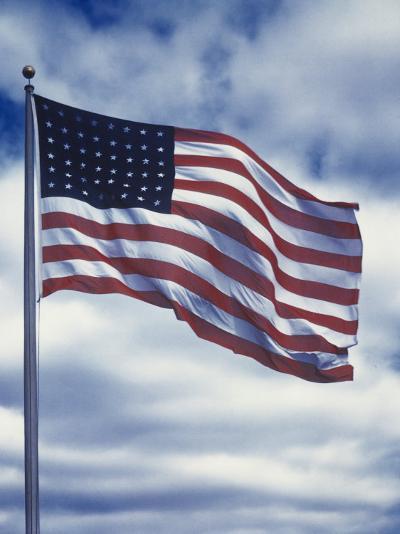 48 Star American Flag-Dmitri Kessel-Photographic Print