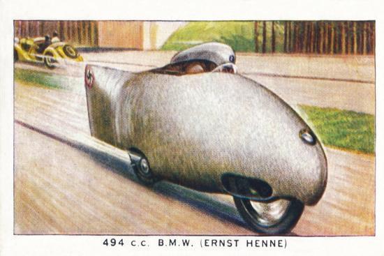 '494 C.C. B.M.W. (Ernst Henne)', 1938-Unknown-Giclee Print