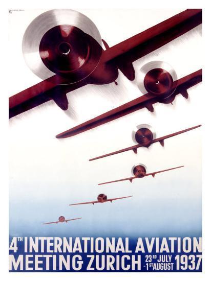 4th International Aviation Meeting, Zurich-Otto Baumberger-Giclee Print