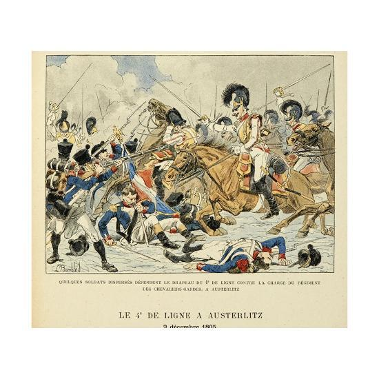 4th Line Infantry in Austerlitz, Dec. 2, 1805, from the Book 'Les Heros Du Siecle'-Louis Bombled-Giclee Print