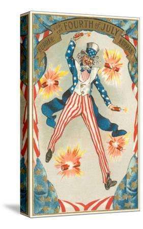 4th of July, Uncle Sam Throwing Firecracker