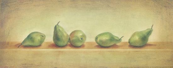 5 Green Pears-Urpina-Art Print