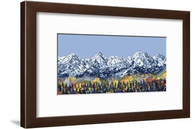 5 Peaks-HR-FM-Framed Art Print