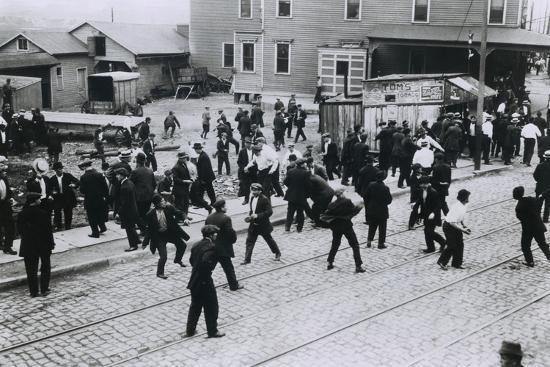 5 Strikers Were Killed by Company Guards at Standard Oil Works, Bayonne, NJ, 1915--Photo