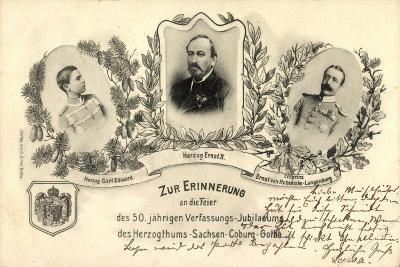 50 J?hr, Verfassungs Jubil?um, Sachsen Coburg Gotha--Giclee Print