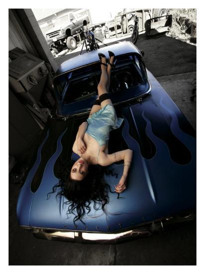 50's Pin-Up Girl-David Perry-Giclee Print