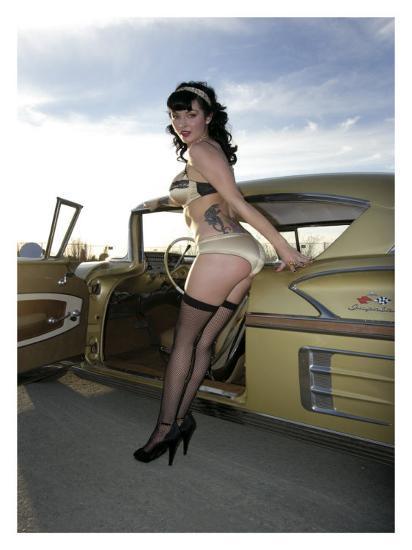 50 S Pin Up Girl Giclee Print David Perry Art Com
