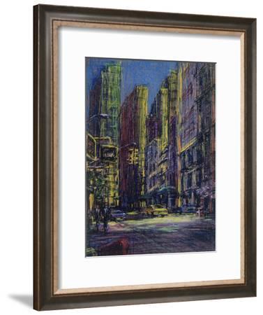 51st and Madison, New York City-Patti Mollica-Framed Giclee Print