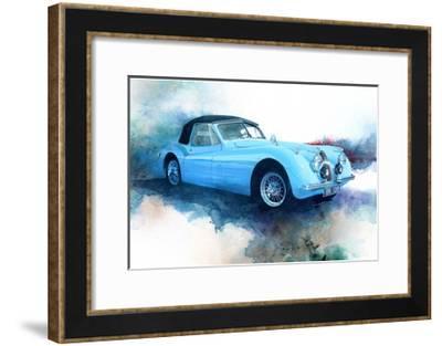 '53 Jaguar-Bruce White-Framed Premium Giclee Print