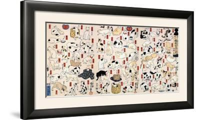53 Stations of the Tokaido-Kuniyoshi Utagawa-Framed Photographic Print