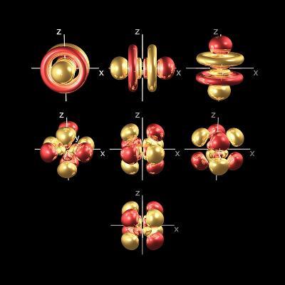 5f Electron Orbitals, Cubic Set-Dr. Mark J.-Photographic Print