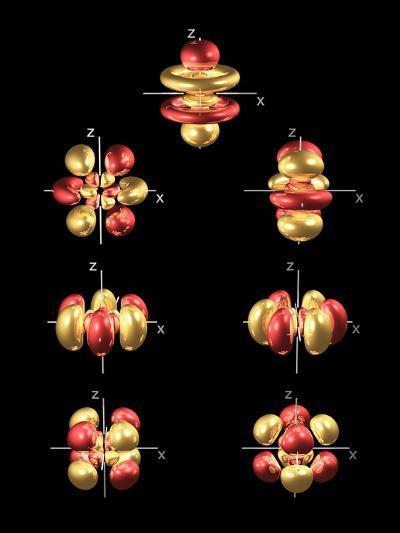 5f Electron Orbitals, General Set-Dr. Mark J.-Photographic Print