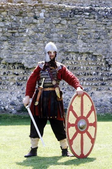 5th Century Romano British Warrior, Re-Enactment--Giclee Print