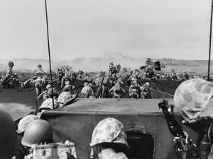5th Division Marines Landing on Iwo Jima Photographed from an Approaching Landing Craft