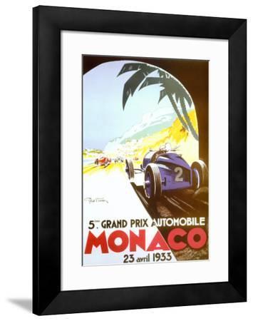 5th Grand Prix Automobile, Monaco, 1933-Geo Ham-Framed Art Print