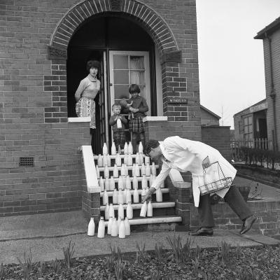 60 Pints of Milk, Advertisment for the Barnsley Co-Op, Mexborough, South Yorkshire, 1964-Michael Walters-Photographic Print