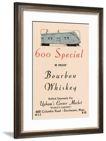 600 Special Bourbon Whiskey--Framed Art Print