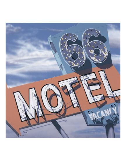 66 Motel-Anthony Ross-Art Print