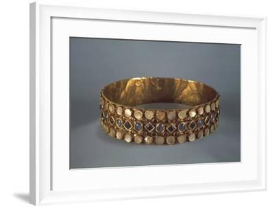 6th-7th Century Votive Crown in Gold, Gems and Mother-Of-Pearl, Belonged to Queen Theodelinda--Framed Giclee Print
