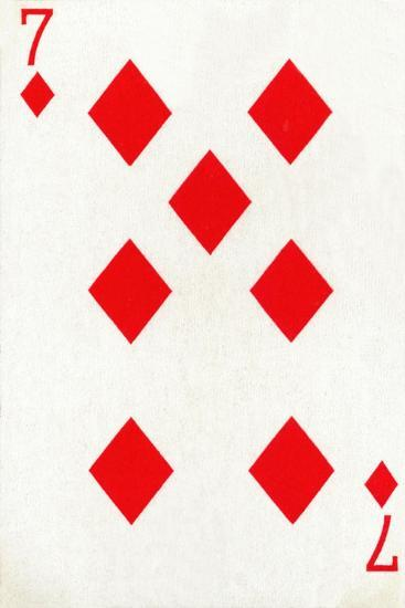 7 of Diamonds from a deck of Goodall & Son Ltd. playing cards, c1940-Unknown-Giclee Print