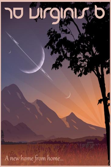 70 Virginis B Space Travel-Lynx Art Collection-Art Print