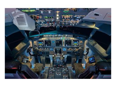 737 Next Generation flight deck--Art Print