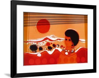 74 Femme Au Soleil-Frédéric Menguy-Framed Limited Edition