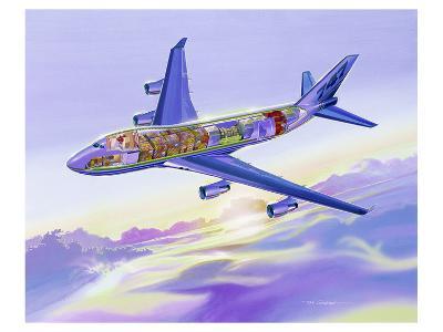 747-400 Freighter cross cut view--Art Print