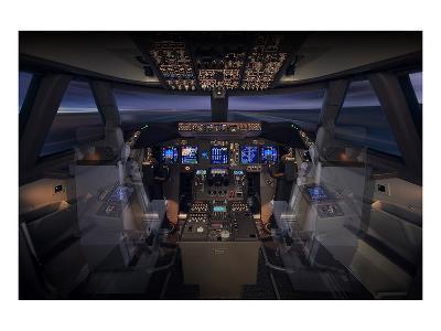 747-8 Flight Deck--Art Print