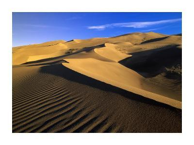 750 foot tall sand dunes, tallest in North America, Great Sand Dunes National Monument, Colorado-Tim Fitzharris-Art Print