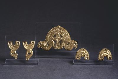 7th Century Golden Saddle Ornaments, from Castel Trosino, Italy--Giclee Print