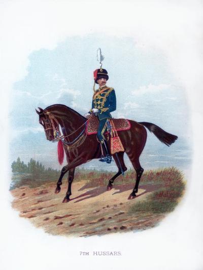 7th Hussars, 1889--Giclee Print