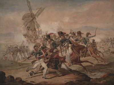 7th Queen's Own Hussars under Sir Edward Kerrison, Charging the French at Quatre Bras, 1818-Denis Dighton-Giclee Print