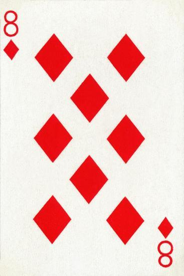 8 of Diamonds from a deck of Goodall & Son Ltd. playing cards, c1940-Unknown-Giclee Print