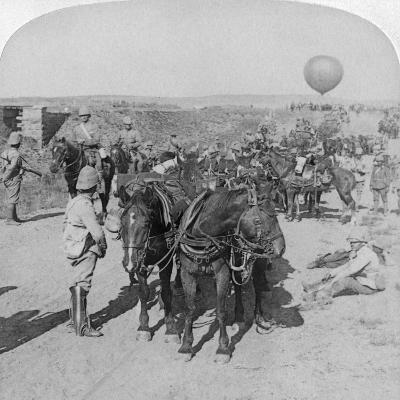 84th Battery and Balloon Corps, Boer War, South Africa, 1901-Underwood & Underwood-Giclee Print