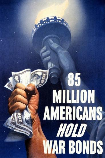 85 Million Americans Hold War Bonds, 1942--Giclee Print