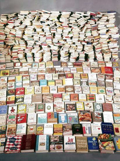 850 Cookbooks Printed in the Usa in Year 1962. Increasing at a Rate of 100 Per Year-Yale Joel-Photographic Print