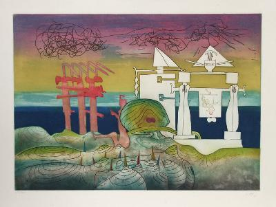8PM from L'Arc Obscur des Heures-Roberto Matta-Limited Edition