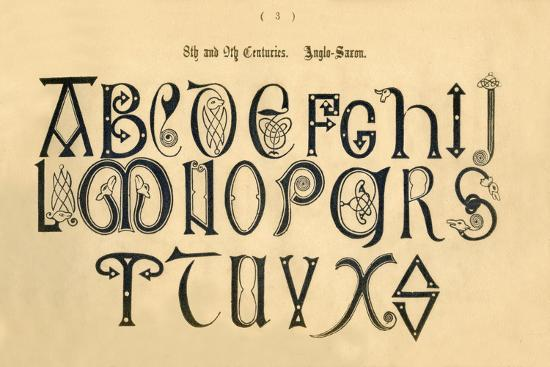 '8th and 9th Centuries. Anglo-Saxon', 1862-Unknown-Giclee Print