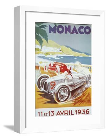 8th Grand Prix Automobile, Monaco, 1936-Geo Ham-Framed Art Print