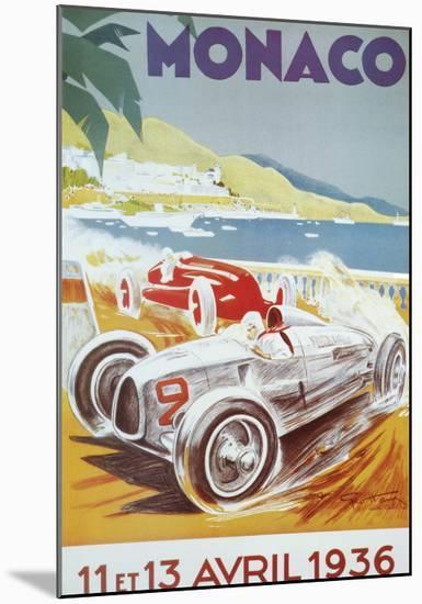 8th Grand Prix Automobile, Monaco, 1936-Geo Ham-Mounted Art Print