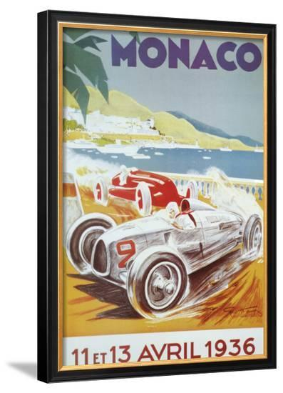 8th Grand Prix Automobile, Monaco, 1936-Geo Ham-Framed Art Print