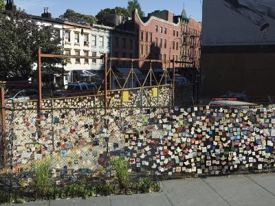 9/11 Messages on Tiles on Fence in Greenwich Village, Manhattan, New York, New York State, USA-Robert Harding-Photographic Print