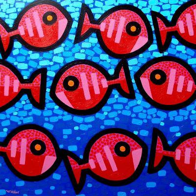9 Happy Fish-John Nolan-Giclee Print