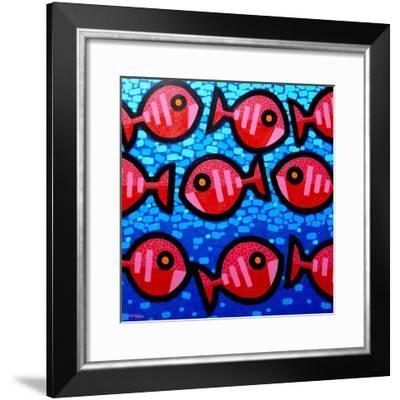 9 Happy Fish-John Nolan-Framed Giclee Print