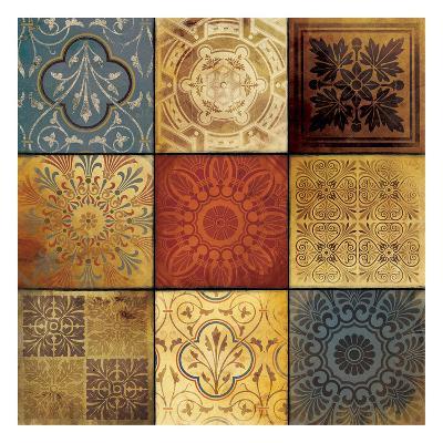 9 Patch Pattern-Jace Grey-Art Print