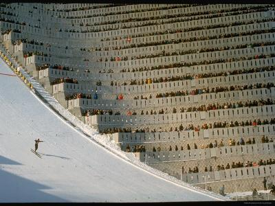 90 Meter Ski Jump During the 1972 Olympics-John Dominis-Photographic Print